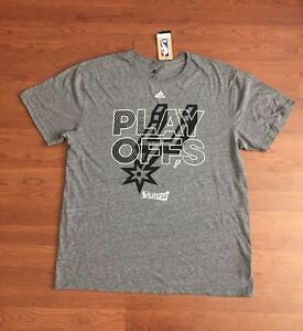 NBA San Antonio Spurs Adidas Playoff Shirt Go Spurs Go Men s Size ... 22efdfd7d