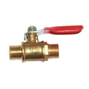 Heavy-Duty-Brass-Ball-Valve-1-4-034-NPT-Male-to-Male-Thread-Pipe-Fitting-Red-Best