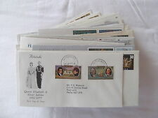 1977 Royal Silver Jubilee first day cover collection. See pics in listing.