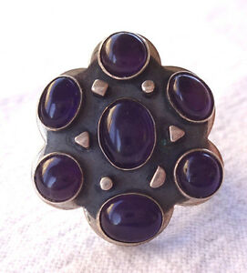 Jay-King-Mine-Finds-Sterling-Silver-amp-Purple-AMETHYST-Ring-sz-6-Desert-Rose-DTR