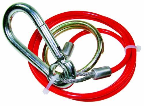 1m X 3mm PVC Rojo Tour de remolque Remolque /& Caravan BREAKAWAY CABLE con anillo de split