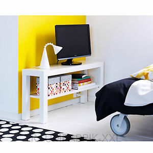 ikea fernsehtisch weiss tv regal wohnzimmerregal 90 x 26 cm wohnzimmer lack neu ebay. Black Bedroom Furniture Sets. Home Design Ideas