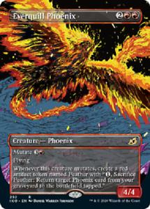 Ikoria lair of Behemoths M//NM MTG magic 1x Everquill Phoenix SHOWCASE