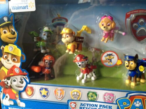 Nickelodeon Paw Patrol Action Pack Rescue m Zuma Skye Rocky Pup Badge Set