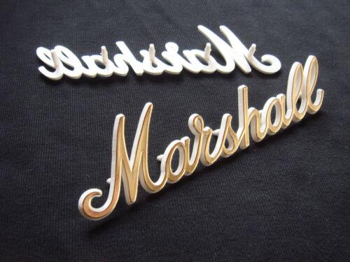 """weiß mit /""""gold-face/"""" 15 cm Marshall Logo"""