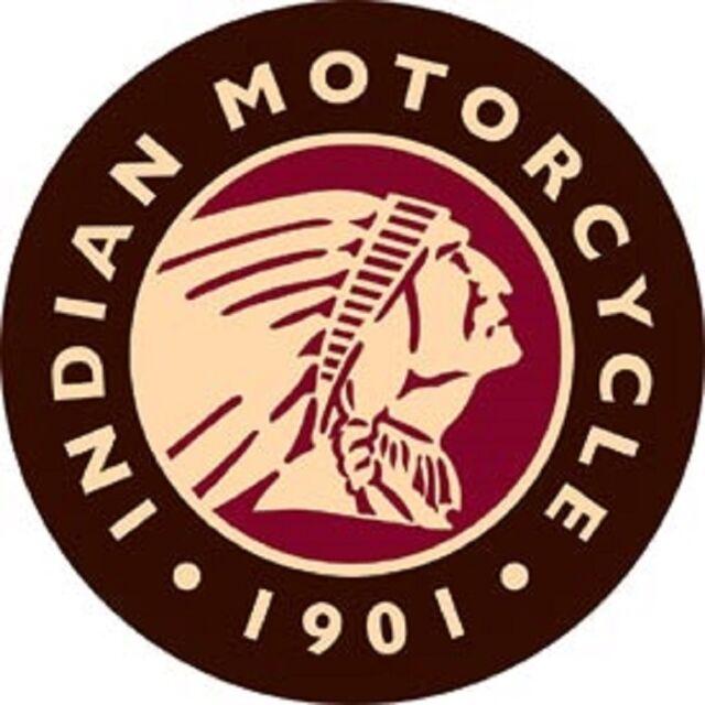 Indian Motorcycles Logo 1901 Novelty Round Tin Sign Vintage Garage