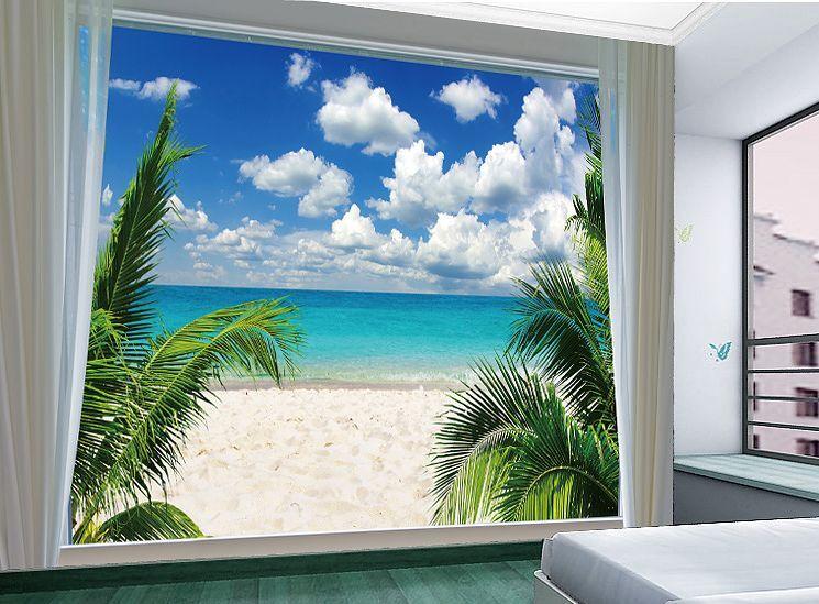 3D Seaside Sand Sunlight Paper Wall Print Wall Decal Wall Deco Indoor Murals