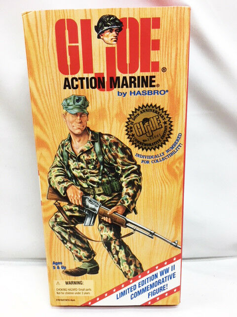 Hasbro 1995 waren 12  g.i. joe - dunkle haare - aktion der 50. jahrestag nrfb