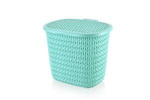 Detergente-Plastico-Recipiente-De-Almacenamiento-Caja-Con-Tapa-De-Punto-Estilo-Cesto-Hogar-Oficina