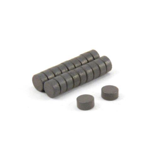 Durchmesser 6mm x 3mm dicken Y10 Ferrit-Magneten Packung mit 20