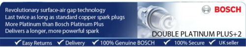 Peugeot 207 CC 1.6i 09-11 BOSCH DOUBLE PLATINE Spark Plug ZQR8SI302