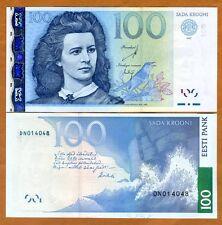 Estonia, 100 Krooni, 2007, P-88, UNC   Pre Euro, Obsolete Currency