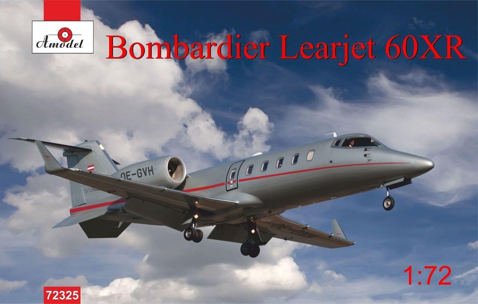 1  72 Amodelllller Bombardier Learjet 60XR modelllllerl kit 72325