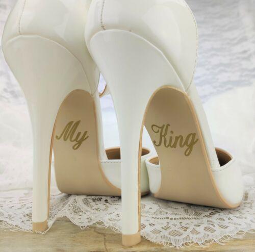 Schuhsticker /'My King/' 13 Farben Hochzeit Aufkleber Schuhe Schuhaufkleber