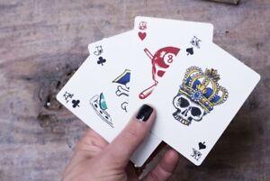 Black Diamond Blue Playing Cards Deck Machismo Style Waterproof Poker Magic TV