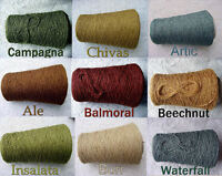 Free Ship Textured Rayon Linen Cone Yarn Color Choices Knit Weave Crochet