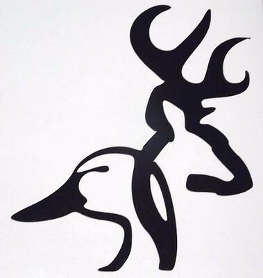 "Duck Head Sticker Browning Hunting Vinyl Decal Hunter Orange 5/"""