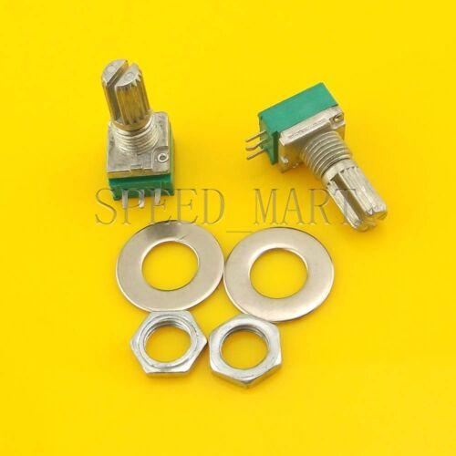 2 pcs B20K Audio Amplifier Sealed Potentiometer 15mm Shaft 3 pins