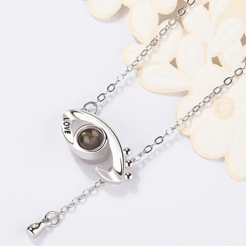 Ich liebe dich 100 Sprachen Projektions-Anhänger-Halskette an Liebe SchmuckUUMW