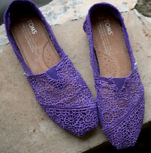 TOMS-PURPLE-CROCHET-CLASSICS-WOMEN-039-S-SHOES-STYLE-001096B13-PURPLE
