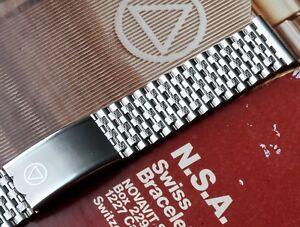 Novavit-Swiss-NSA-vintage-watch-band-18mm-19mm-or-20mm-straight-ends-80-bonus
