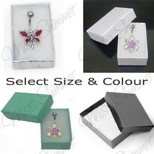 GIFT-BOX-WHITE-SILVER-BLACK-FLORAL-SMALL-OR-MEDIUM-JEWELLERY-BOX-COTTON-FILLED