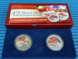 2007-Singapore-42-Years-of-Independence-2-IN-1-NDP-Commemorative-Coin-Set