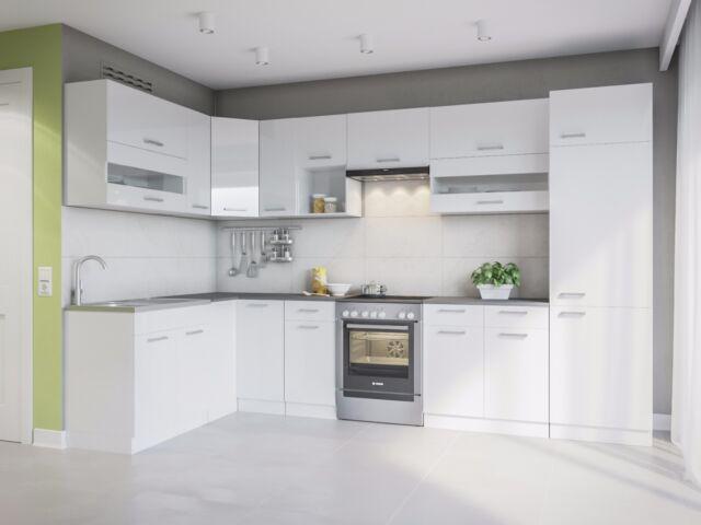 Eldorado Alina 330x170 L-Form Küche - Weiß