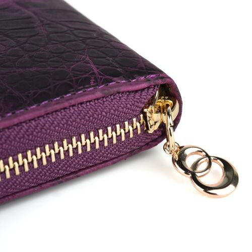 KroO PU Leather Croc Skin Designed Full Zip-Around Clutch Wristlet Wallet