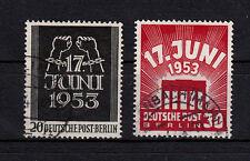 Berlin 110 - 111  komplett, 17. Juni, sauber gestempelt, siehe Scan