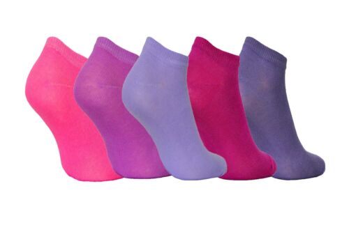 Women Girls Cotton Colourful Breathable Sport Trainer Socks Low Cut  5 packs