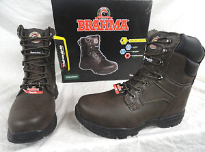 0b4215e821d Details about BRAHMA CHALLENGER, MENS BROWN LEATHER INSULATED STEEL TOE  WORK BOOTS, SIZE 7.5
