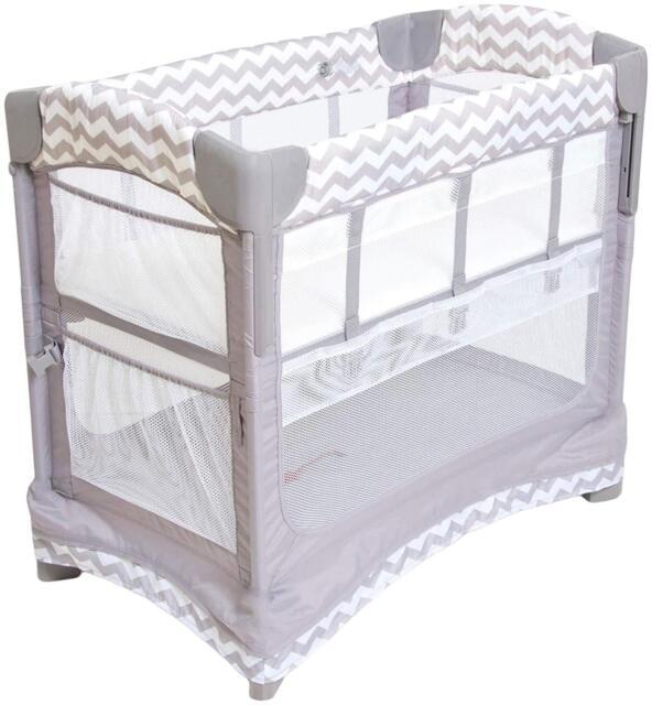 Arm S Reach Mini Ezee 2 In 1 Baby Co Sleeper Bedside Bassinet Grey