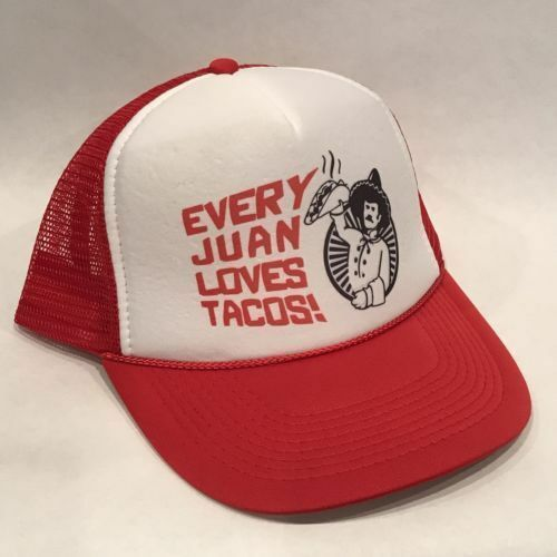 Every Juan Loves Tacos Trucker Hat Funny Taco Tuesday Cap Red Mesh And Bell