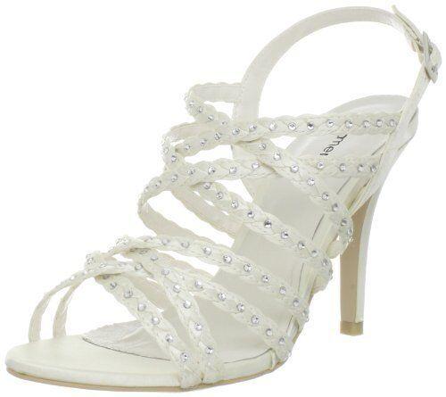 SIZE 3 3.5 6 PACO MENA MENBUR GLORIA IVORY DIAMANTE BRIDAL Schuhe BNWB