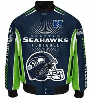 Seattle Seahawks Men's Nfl G-iii Burst Twill Jacket -size 3x Free Ship