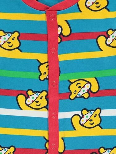 Children in need all in one nightwear age 5 to 6  years unisex one piece pudsey
