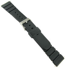 19mm Speidel Express Rubber Black Watch Band Mens Style 5934 BUY 1 GET 1 FREE!