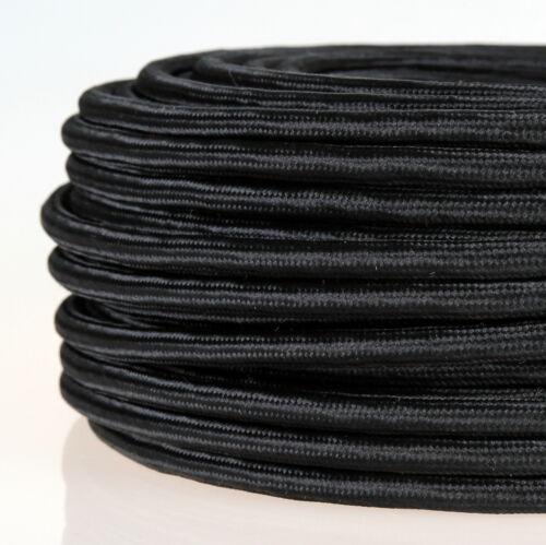 Textilkabel schwarz 4-adrig 4x0,75 Stoffkabel Lampen-Kabel Pendelleitung