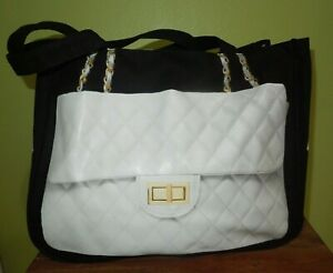 Thursday-Friday-White-Quilted-Chain-Purse-Print-Tote