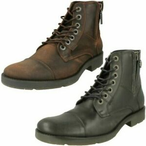 Mens Harley Davidson Lace Up Ankle Boots 'Maine'