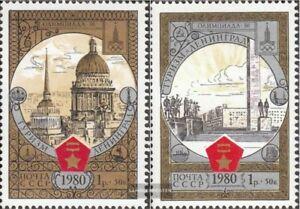 Sowjet-Union-4940-4941-kompl-Ausg-gestempelt-1980-Olymp-Spiele-Tourismus