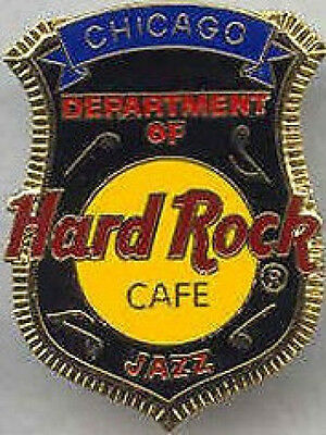 Hard Rock Cafe CHICAGO 1999 Department of Jazz POLICE BADGE PIN with HRC Logo