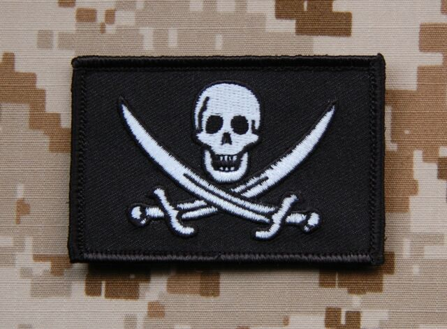 Calico Jack Patch Navy SEAL Pirate Flag Battlefield 4 Jolly Roger VELCRO® Brand
