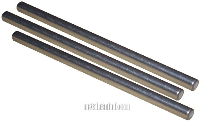 Stainless steel bar 4mm dia x 1000mm long 3 pack