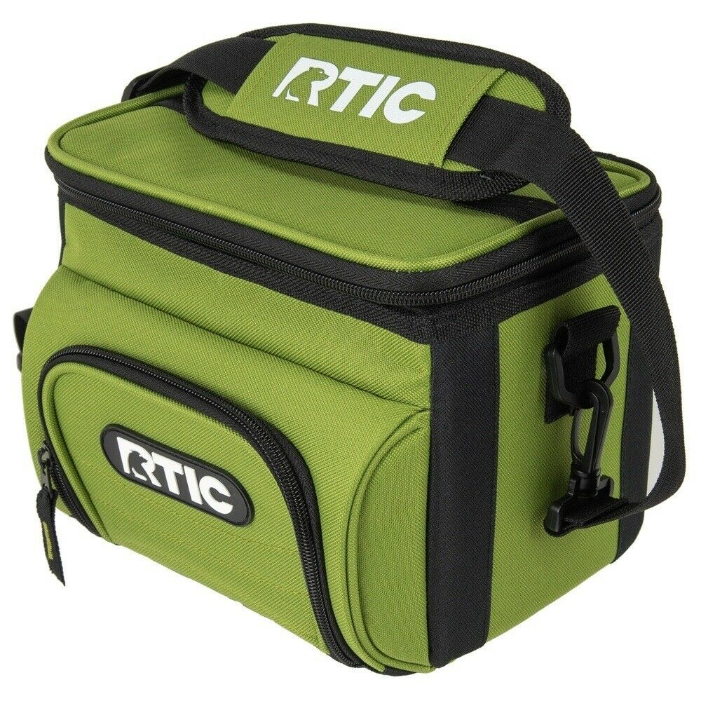 NEW RTIC Day Cooler 6 Can Lunch Box Ice Leakproof Foam Insulated Bag Green
