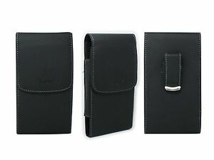Black-Case-Belt-Pouch-Holster-w-Clip-for-Verizon-Samsung-Convoy-4-SM-B690V-B690