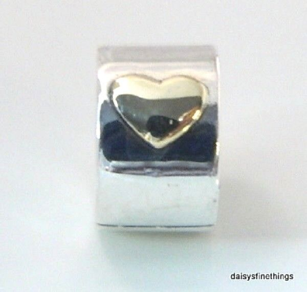 8805be3a065 PANDORA 925 Silver 14k Gold Classic Heart Clip Charm Pendant 792080 for  sale online | eBay