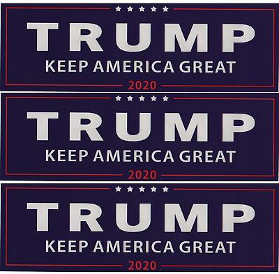 "THREE Trump Bumper Stickers 3x9/"" 2020 Keep America Great KAG President USA Make"