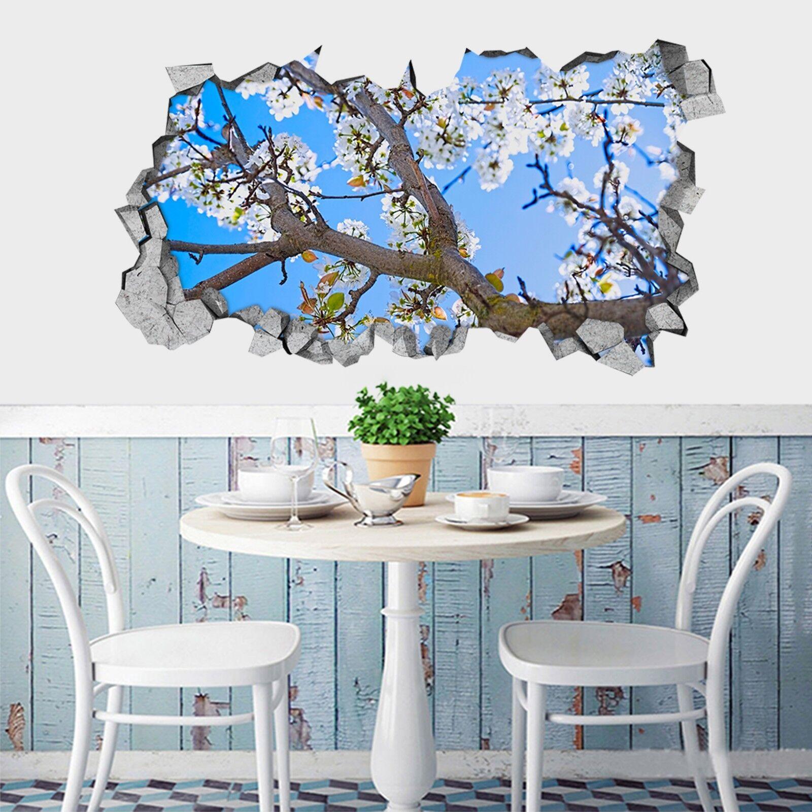 3D Baum bluemen 321 Mauer Murals Mauer Aufklebe Decal Durchbruch AJ WALLPAPER DE